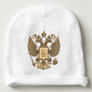 Russia double eagle baby beanie