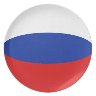 Russia Fisheye Flag Plate