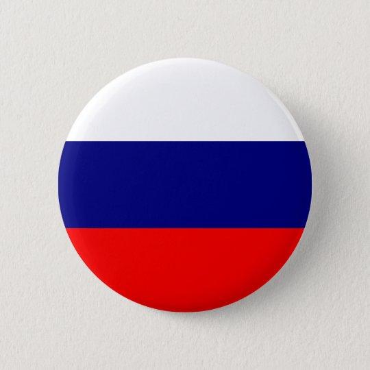 Russia Flag 6 Cm Round Badge