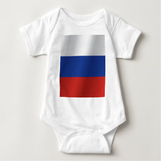 Russia flag baby bodysuit