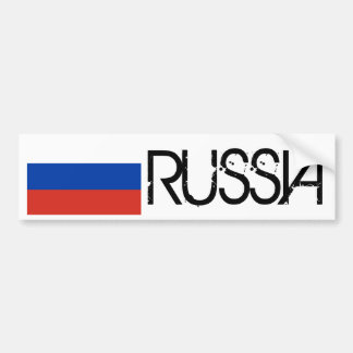 Russia Flag Car Bumper Sticker