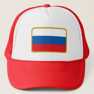 Russia flag embroidered effect hat
