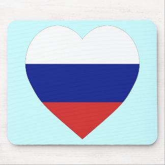 Russia Flag Heart Mouse Mats