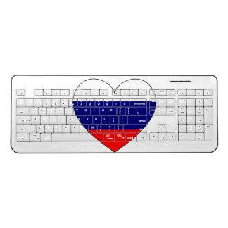 Russia Flag Heart Wireless Keyboard