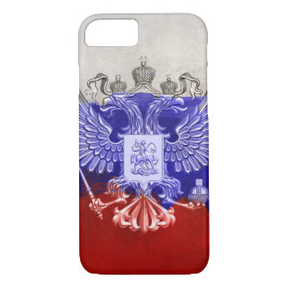 Russia Flag Paint Grunge Design iPhone 7 Case