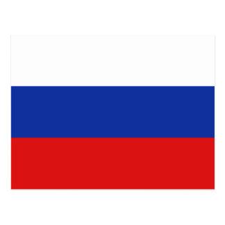 Russia Flag Postcard