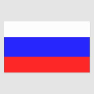 Russia Flag Rectangular Sticker