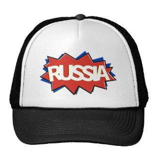 Russia flag starburst trucker hats