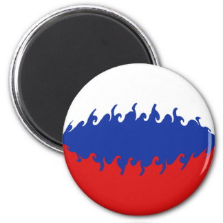 Russia Gnarly Flag 6 Cm Round Magnet