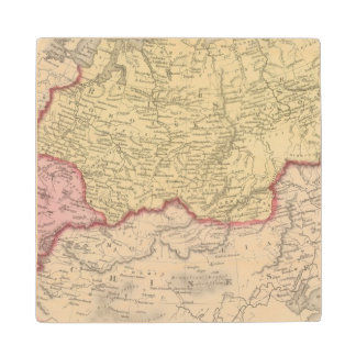 Russia in Asia and Tartary 2 Wood Coaster