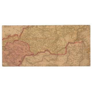 Russia in Asia and Tartary 2 Wood USB Flash Drive