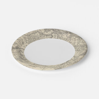 Russia in Asia and Tartary 7 Inch Paper Plate