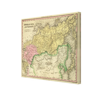 Russia In Asia and Tartary Canvas Print
