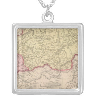 Russia in Asia and Tartary Silver Plated Necklace