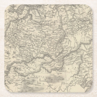 Russia in Asia and Tartary Square Paper Coaster