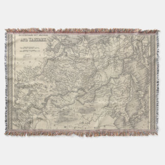 Russia in Asia and Tartary Throw Blanket