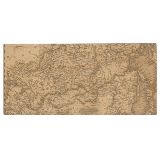 Russia in Asia and Tartary Wood USB Flash Drive