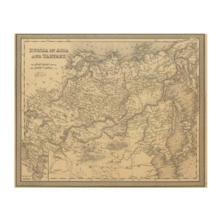 Russia in Asia and Tartary Wood Wall Decor