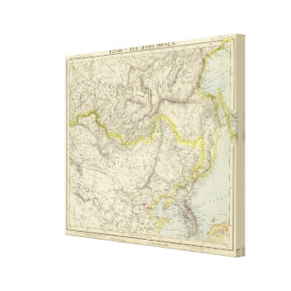 Russia in Asia, Chinese Empire Canvas Print