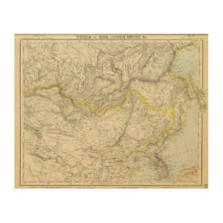 Russia in Asia, Chinese Empire Wood Wall Art