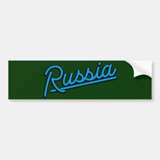Russia in cyan bumper stickers