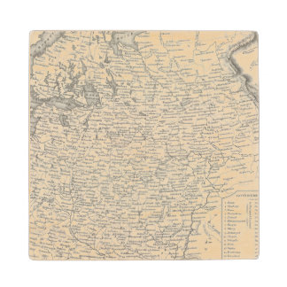 Russia in Europe 2 Maple Wood Coaster