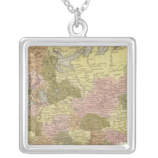 Russia In Europe 3 Silver Plated Necklace