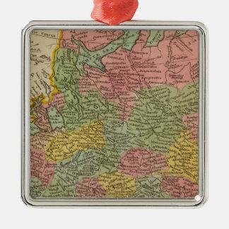 Russia in Europe 4 Silver-Colored Square Decoration