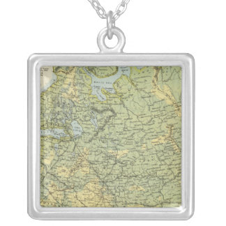 Russia in Europe 4 Silver Plated Necklace