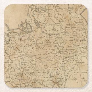 Russia in Europe 6 Square Paper Coaster