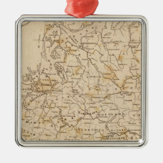 Russia in Europe Map by Arrowsmith Silver-Colored Square Decoration