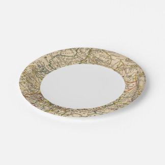 Russia in Europe Paper Plate