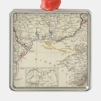 Russia in Europe Part VIII with index map Christmas Ornament