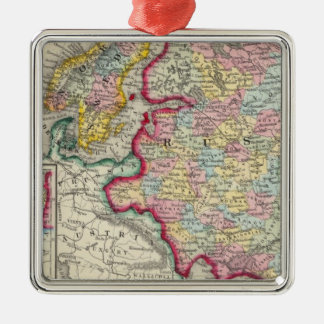 Russia In Europe, Sweden, And Norway Christmas Ornament
