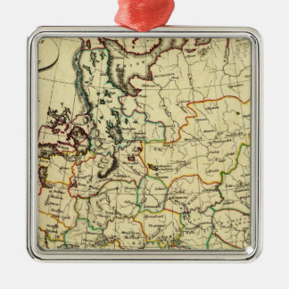 Russia in Europe with boundaries outlined Christmas Ornament