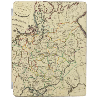 Russia in Europe with boundaries outlined iPad Cover