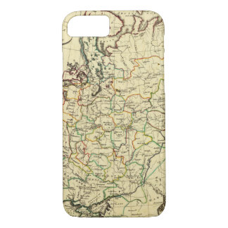 Russia in Europe with boundaries outlined iPhone 8/7 Case