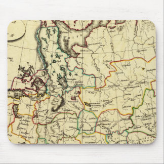 Russia in Europe with boundaries outlined Mouse Mat