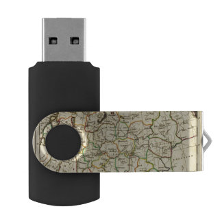 Russia in Europe with boundaries outlined USB Flash Drive