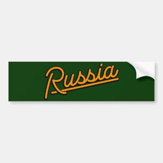 Russia in orange bumper stickers