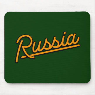 Russia in orange mouse pads