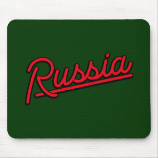 Russia in red mouse pads
