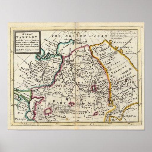 Russia, Kazakhstan, Asia Print