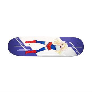Russia Manga girl dressed in Flag - Russian- Skateboards
