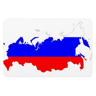 RUSSIA MAP VINYL MAGNET
