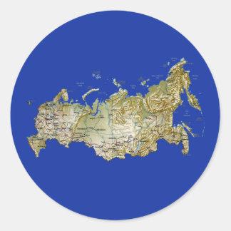 Russia Map Sticker