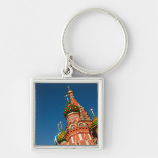 Russia, Moscow, Kremlin, Vasiliy Blessed Silver-Colored Square Key Ring