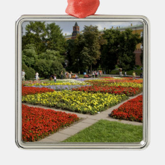 Russia, Moscow, Red Square, Alexandrovsky Silver-Colored Square Decoration