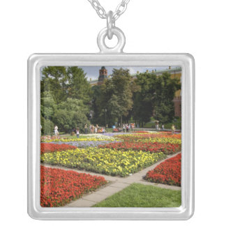 Russia, Moscow, Red Square, Alexandrovsky Silver Plated Necklace