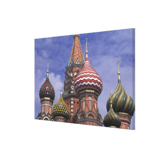Russia, Moscow, Red Square. famous onions of St. Canvas Print